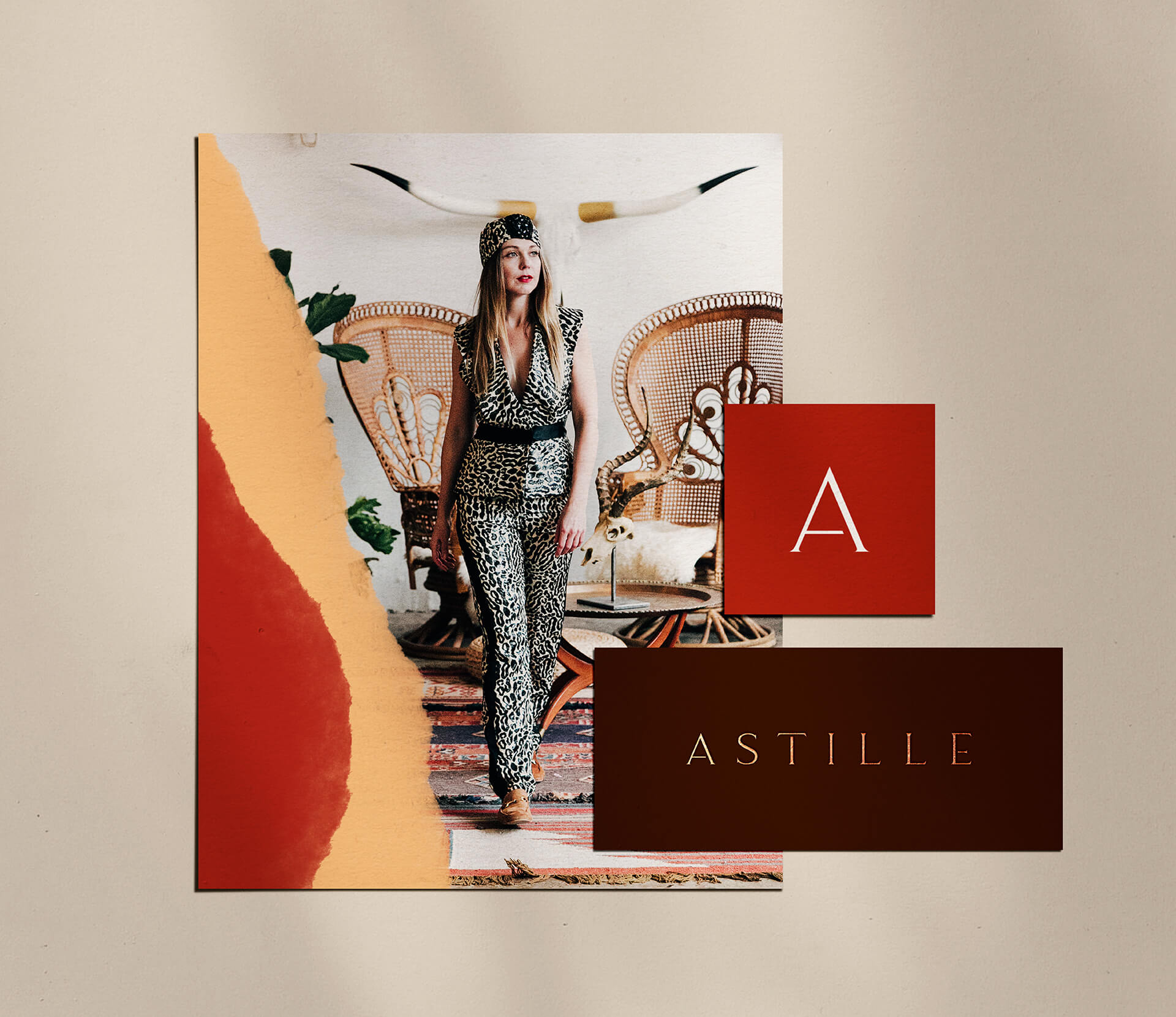 Overview of Astille brand identity logo suite