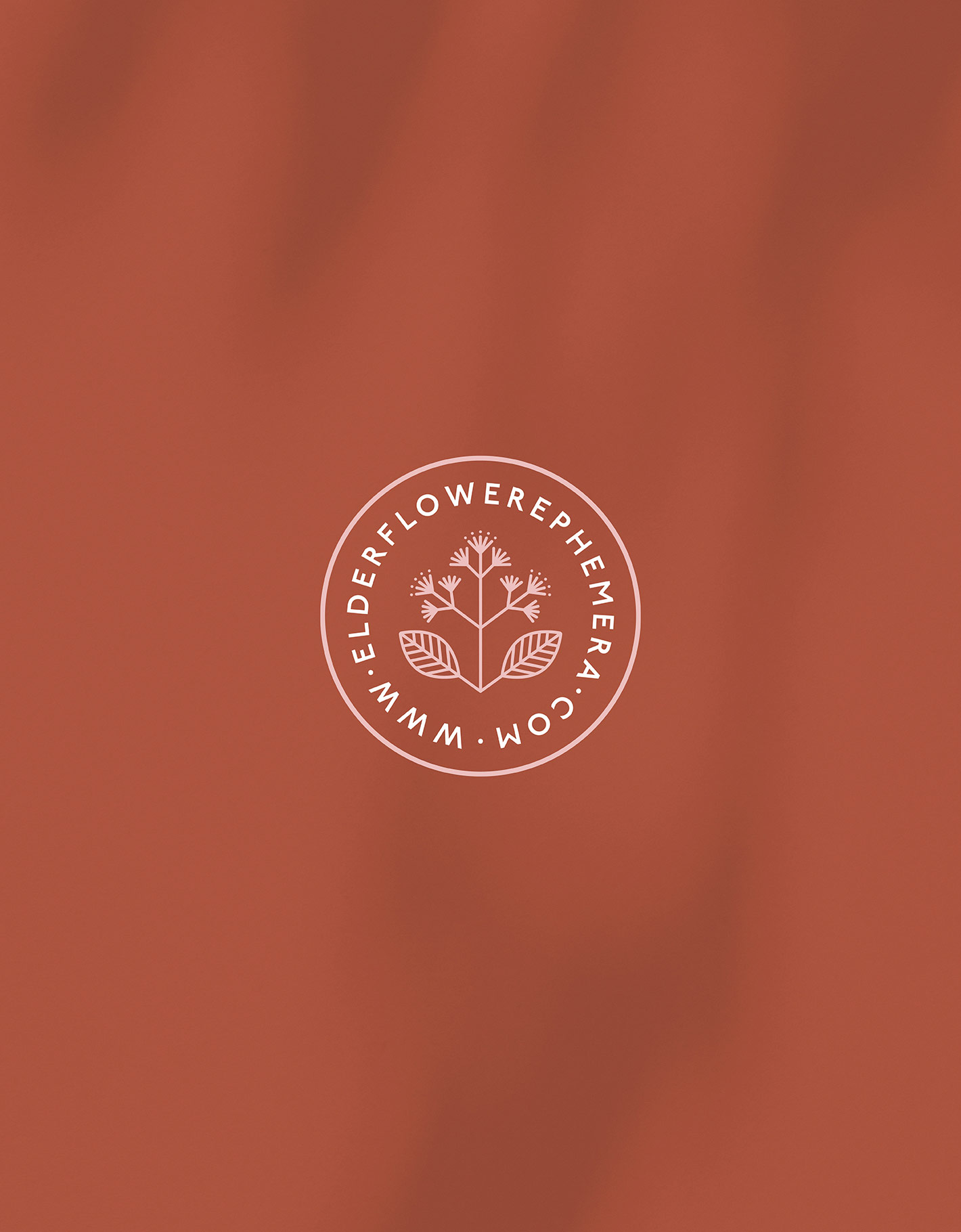 Logo stamp for elderflower ephemera