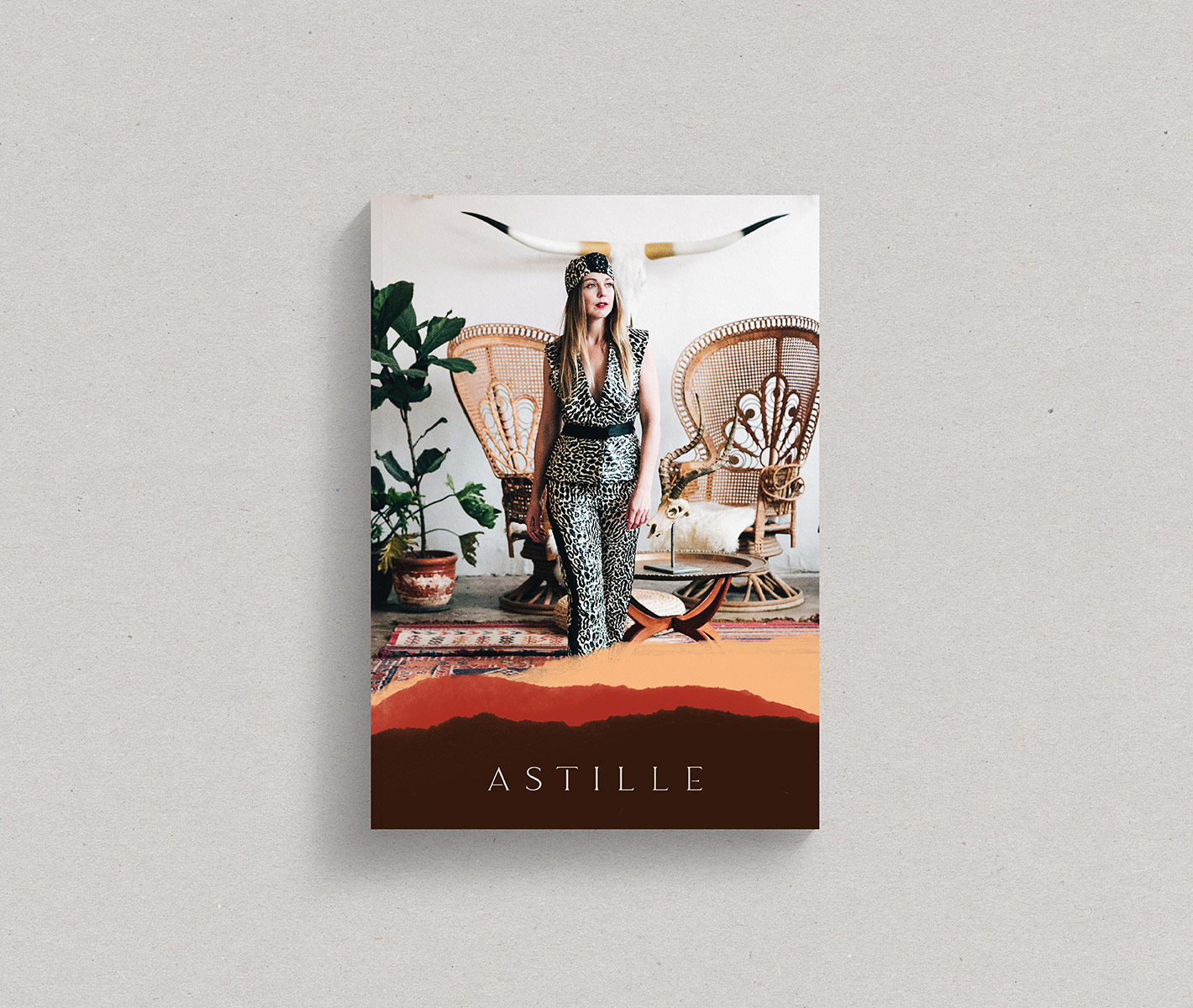 cover of lookbook from brand launch of astille