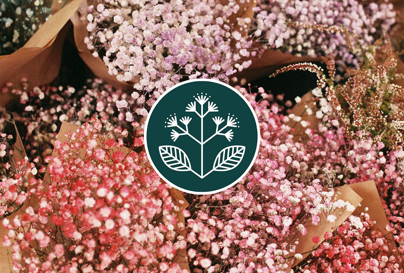 Delicate film photograph of flowers with elderflower emblem for film photographer