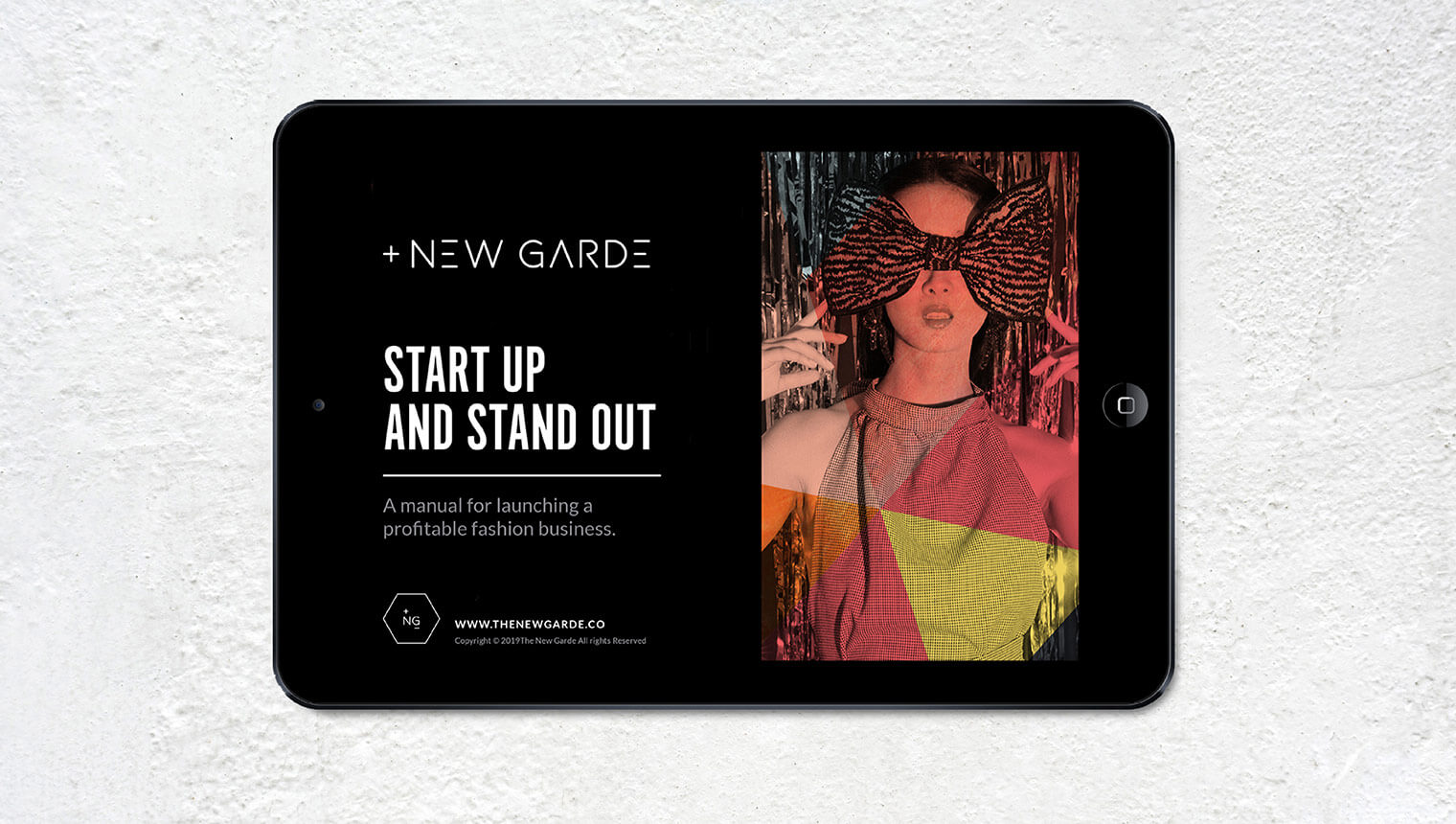 Ipad view of start up fashion ebook workbook for The New Garde
