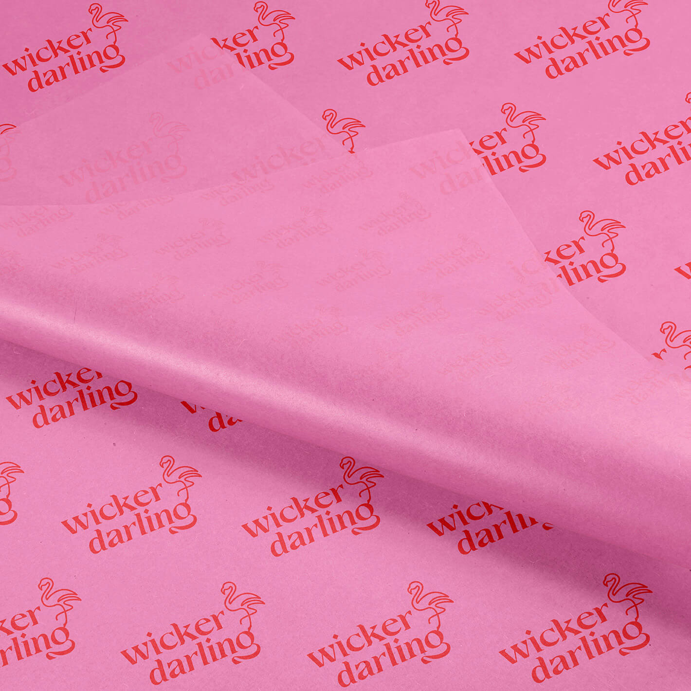 Pink and red wicker darling custom tissue paper design